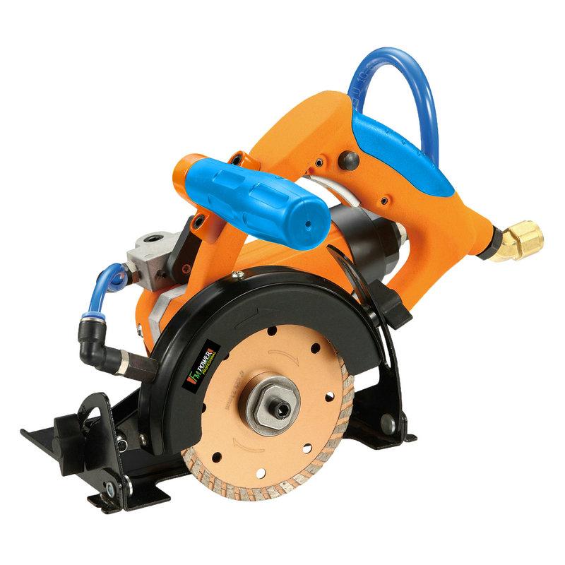 Moinho de água pneumático + máquina de corte de pedra pneumática-AWS1301