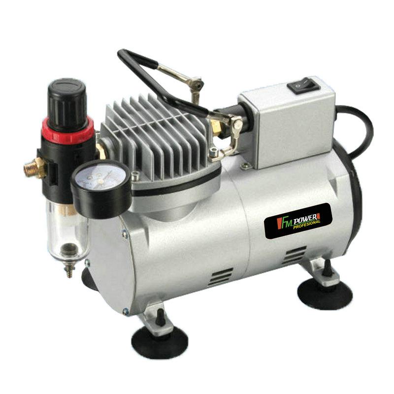 Mini compressor de ar + aerógrafo pneumático e acessórios-MAC1001
