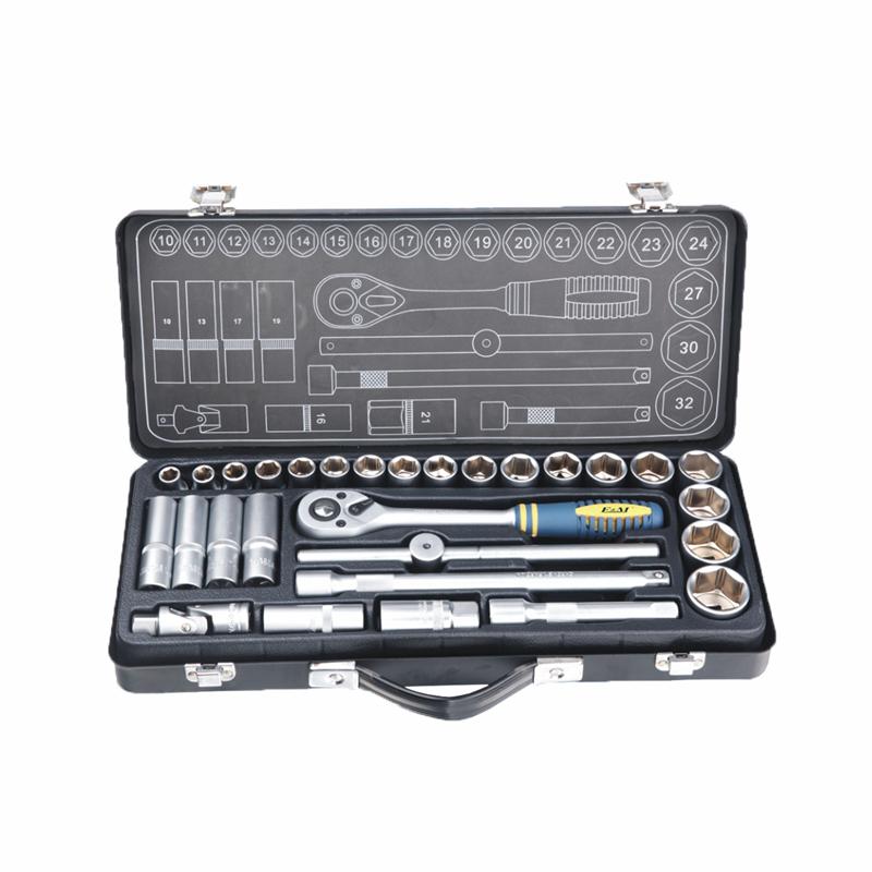Conjunto de soquetes e chaves-conjunto de soquetes 29PCS 1/2